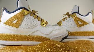 Glitter Jordan 4 Retro Custom Glitter Jordan 4 Glitter Jordans How To Glitter Jordans diy glitter