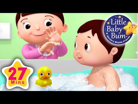 Bath Song | Part 2 | Plus Lots More Nursery Rhymes | 27 Minutes Compilation from LittleBabyBum!