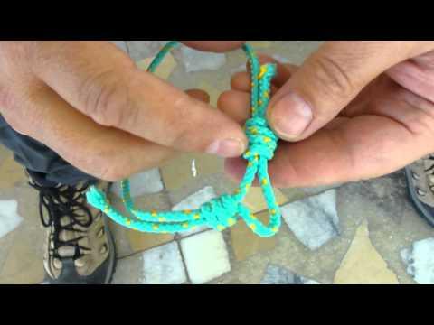 Sawyer Making Rope Bracelet