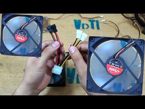Adaptador molex para controlar velocidade de fan (cooler) manual 12v 5v