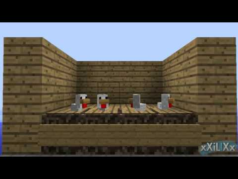 Minecraft - Baby Chickens Growing Up (Sped Up) (Egg Farm)