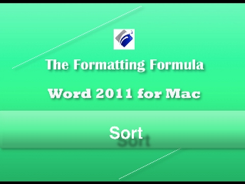 Word 2011  Sort  Learn How to Sort Text, Numbers and Columns