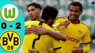 Wolfsburg vs dortmund (0 - 2) full time & allgoals