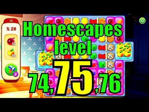 Homescapes level 74 to 76/Hard level 75 how to complete without hacking and boosting?it's free