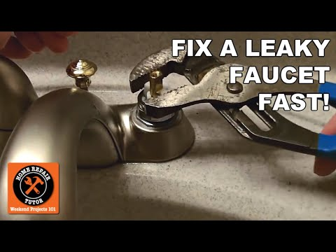 How to Fix a Leaky Faucet in 5 Minutes -- by Home Repair Tutor