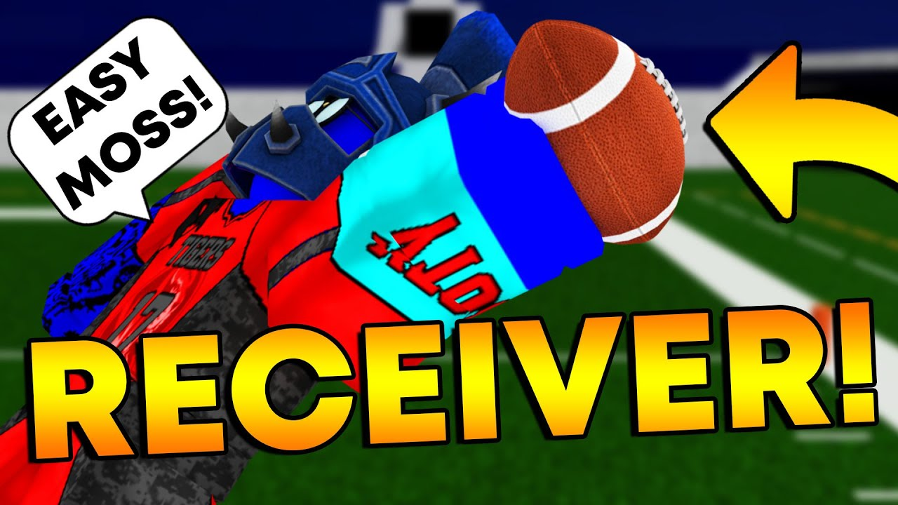 I TRIED WIDE RECEIVER FOR A GAME! (Football Fusion ROBLOX)