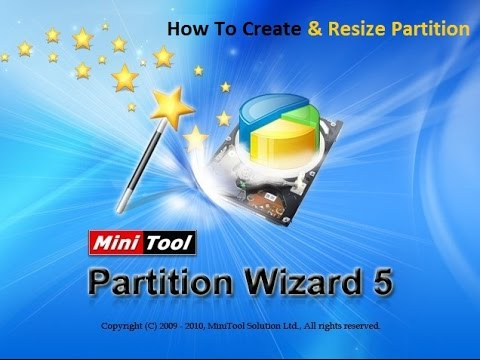 How to create  and Re-size Partition with Mini tool Partition Wizard