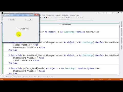 Simple Application Digital and Analog Clock in VB NET 2012