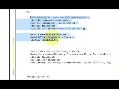 C# Tutorial 29:How to Export Data from Database To Excel File By using C#