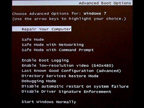 Windows Error Recovery (Won't Boot Windows 7)