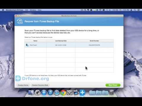 iPod Touch 5 Videos Recovery: How to Recover iPod Touch 5 Videos from iTunes Backup(Mac)