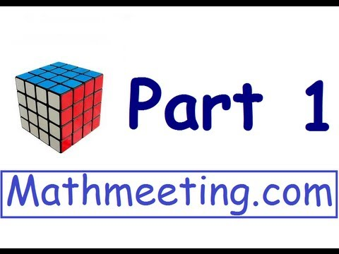 How to solve the 4x4 Rubik's cube - part 1