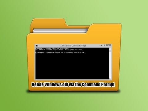 Delete Windows.old via the Command Prompt