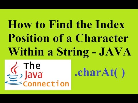 How to Find the Index Position of a Character in Java - charAt( )