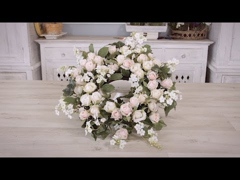 How to Create a Pink Rose and Elder Flower Floristry Wreath