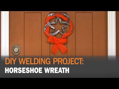 DIY Welding Project: MIG Welding a Horseshoe Wreath