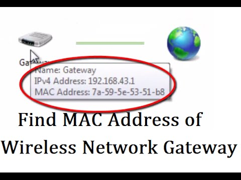 How to find MAC address of Gateway in a Wireless Network Connection