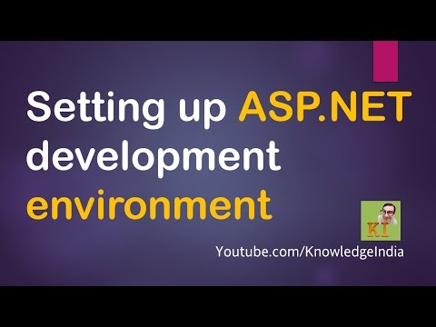ASP.net getting started | Setup ASP.NET development tools | Visual Studio, IIS & SQL Server