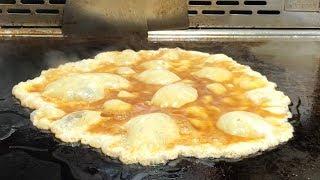 Taiwanese Street Food - Teppanyaki (Egg Omelette, Chicken, Vegetable)