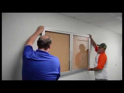 Enclosed Bulletin Board Installation Video