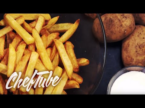 Homemade chips (fries) - Recipe in the description