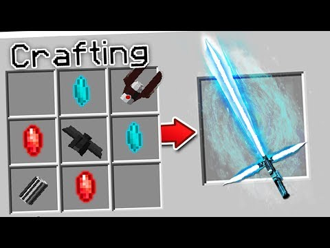 CRAFTING A STAR WARS LIGHTSABER IN MINECRAFT?!