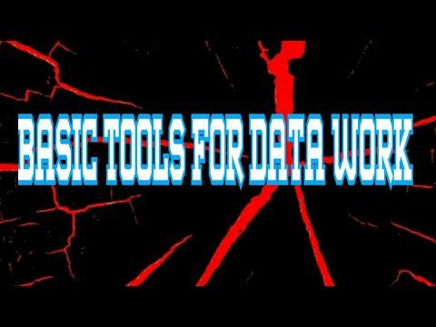 BASIC TOOLS FOR DATA