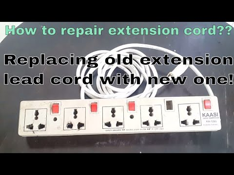 How to repair extension cord