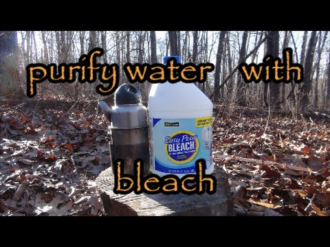 bleach to purify water