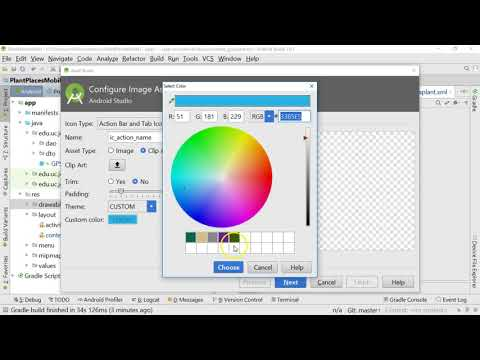 Add an image to a button in Android Studio