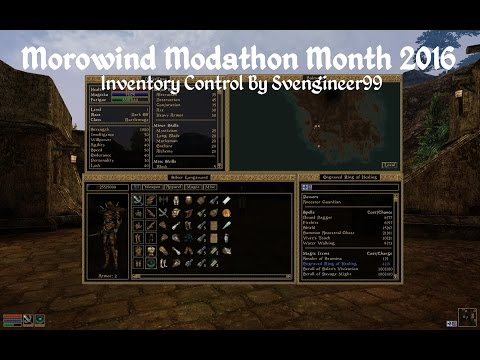 Morrowind Modathon - Inventory Control