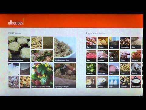 Windows 8  App review allrecipies app