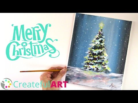 How To Paint a Christmas Tree --with Acrylics