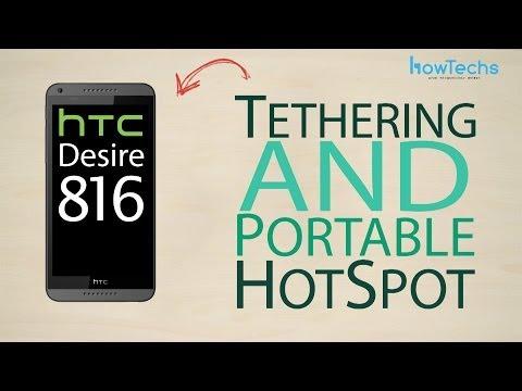 HTC Desire 816 dual sim - How to setup portable hotspot