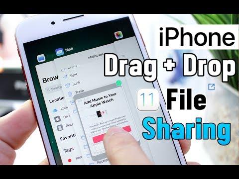 Drag & Drop File Sharing on iPhone iOS 11