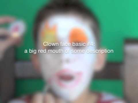 How to paint a clown face for a clown costume