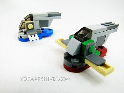 How to build a Lego mini Slave 1 Ship