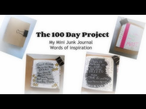 The 100 day project/  book of inspiration words/ words of art inspiration journal