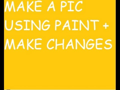 Make your own picture/Profile pic or cover pic using paint 2014 sep + logo