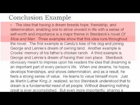 Thematic Essay #4 the Conclusion