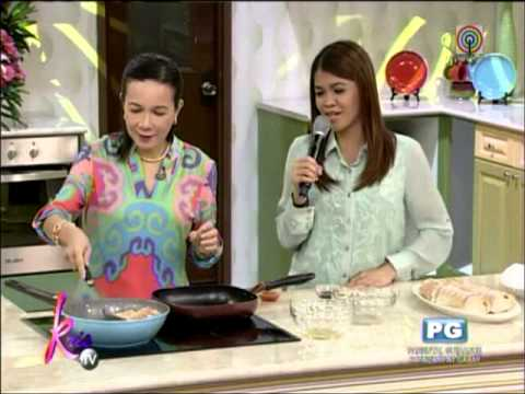 Grace Poe shares FPJ's recipe for gambas