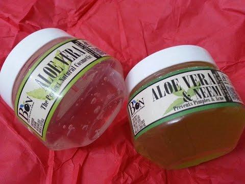 Bon Organics ALOE VERA & NEEM and PURE ALOE VERA GEL product review video