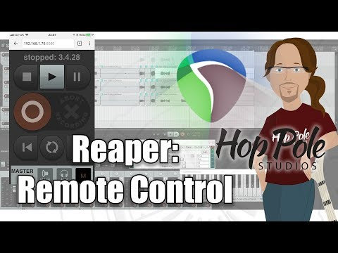 Reaper 101 Part 5:- Remote Control with ANY Device- iOS or Android, Mac or PC