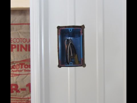 Cutting Electrical Box Hole in Metal Siding - How To - with lipstick