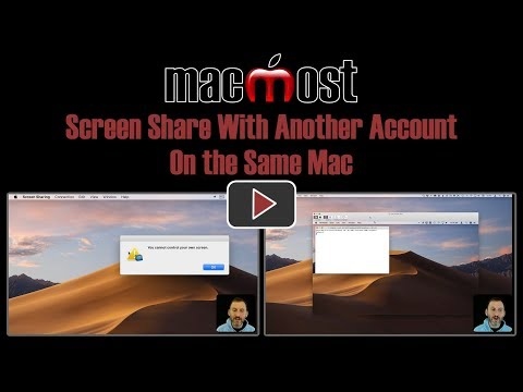 Screen Share With Another Account On the Same Mac (MacMost #1837)