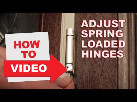 How to Adjust Spring Loaded Hinges