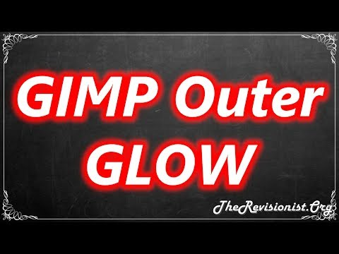 How to Make Outer Glow Effect in GIMP 2.10