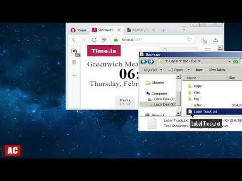 Create Cue Sheet From Single FLAC File on Windows
