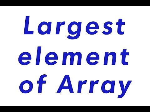 Find Largest value from array without sorting and without using any predefined method in java