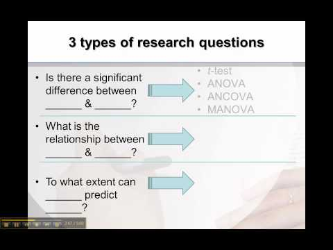 3 Types of Research Questions for Quantitative Research